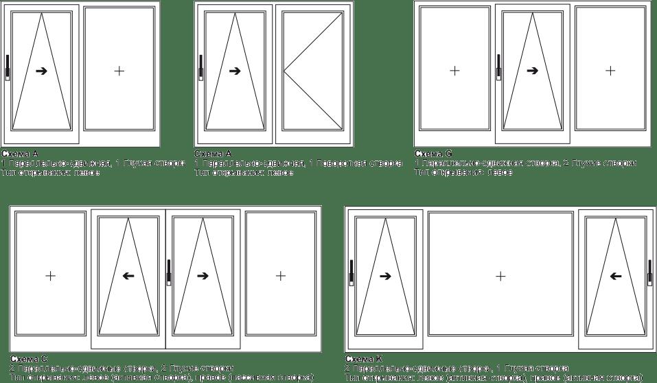 Схемы расположения наклонной системы